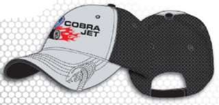 Ford Mustang Cobra Jet Mesh Hat Cap Gray/Black NWT