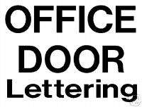 OFFICE DOOR SIGN CUSTOM VINYL LETTERING FOR BUSINESS