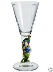 FRANZ AUSTRIAN CRYSTAL HUMMINGBIRD WHITE WINE GLASS