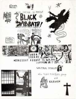 BLACK SABBATH Concert Flyer New York 1969 Timothy Leary ORG