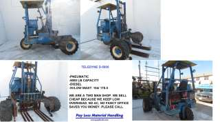 TELEDYNE PRINCETON D5000 FORKLIFT LIFT TRUCK 5000LB CAPACITY