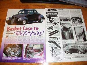 Original 1940 Ford Street Rod article 39 Deluxe