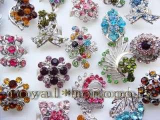 wholesale of 24pieces vintage Austrian Rhinestone Rings