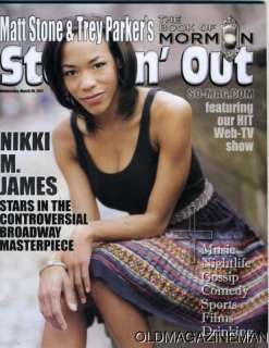 Nikki M James The Book of MormoN Steppin Out magazine |