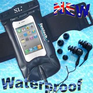 Waterproof EARPHONES + BAG CASE iPod Touch iPhone 3Gs 4