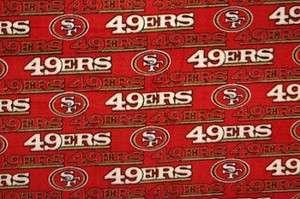 San Francisco 49ers NFL Pro Football Team Sports Fleece Fabric Print