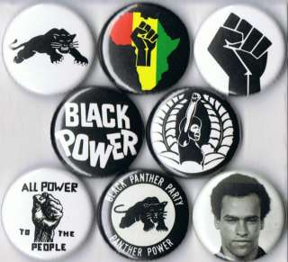 Black Panther Party 1 buttons pins badges pinback button huey newton