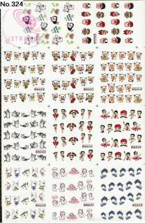 220 NAIL IMAGES IN 1 NAIL ART TATTOOS STICKER WATER DECAL M