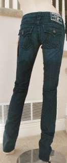 NWT True Religion womens Billy super T jeans in dark ponyexpress