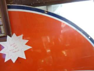 1960s RARE GULF PORCELAIN 6 Bow Tie GAS STATION SIGN OIL Good Shape