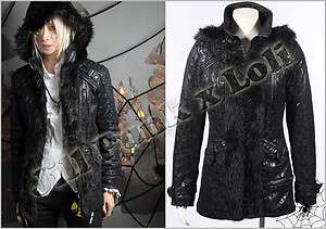 Punk metal Rock Anthem The Mighty Cat LionO leopard faux fur parka