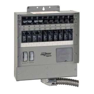Reliance Controls 10 Circuit Heavy Duty Transfer Switch 30 Amp Q310C