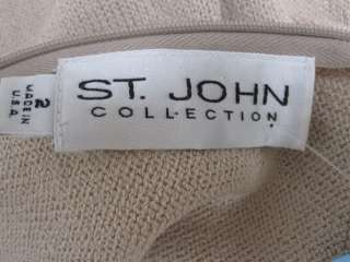 St. John Knit COLLECTION NWOT Beige Pink Sleeveless Dress Size 2 4