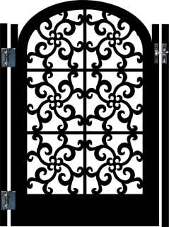 ITALIAN METAL GATE SALE DESIGNER WROUGHT IRON GARDEN ORNAMENTAL ART