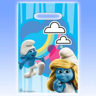Blue SMURFS Movie Plastic Party Gift Treat Loot Bags