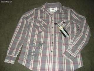ED HARDY MENS SKULL BUTTON DOWN DRESS SHIRT SZ SMALL