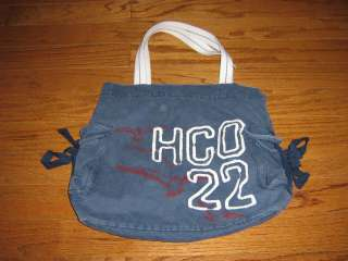GREAT HOLLISTER CANVAS BAG BLUE GENTLY USED ONLY COUPLE OF TIMES