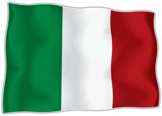 Italy Flag Italian Car Bumper Window Boat Locker Notebook Sticker