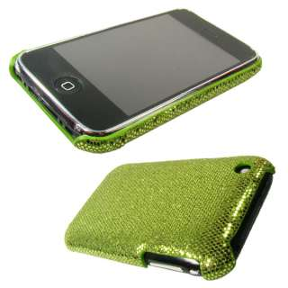 Backcover Schutzhülle Apple iPhone 3G S   Strass/Green