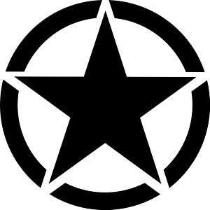 Aufkleber US Army Star / Stern Militär   10 cm