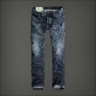 NWT ABERCROMBIE & FITCH MENS REMSEN LOW RISE SLIM STRAIGHT JEANS SIZE