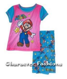 Girls SUPER MARIO Pajamas pjs Shirt Pants Size 4 5 6 6X 7 8 10 12 14