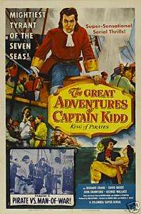 GREAT ADVENTURES OF CAPTAIN KIDD 15 CHAPTER SERIAL DVD