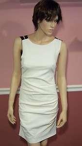 NWT NICOLE MILLER Cross Back Tucked Dress size 10