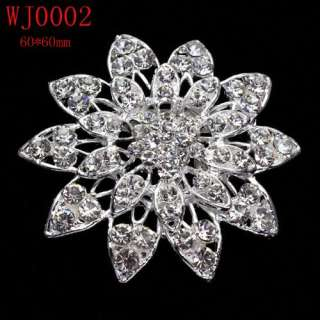 Charming Wedding/Bridal Czech Crystal Brooch Pin In 12 Styles