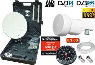 Digital Camping SAT Anlage im Koffer + LNB 0,1 dB HDTV