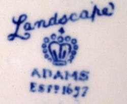 ADAMS LANDSCAPE blue SQ Covered Vegetable Bowl asis