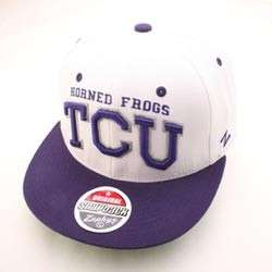 TCU HORNED FROGS HAT CAP SUPERSTAR SNAPBACK WHT/PRP