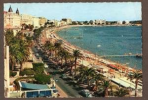 AK Cote dAzur Cannes Frankreich Oldtimer Küstenstraße Hotels 1958