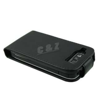 New Leather Case Pouch + LCD Film For NOKIA E72 e