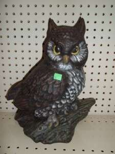 Large Ceramic OWL Figure statue Bird of Prey night