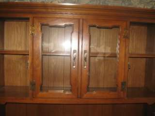 Tell City Hard Rock Maple Half Glass China Cabinet 8388 Andover #48