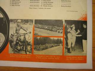 Orig Vint. Harley Davidson Indian Poster motorcycle adv