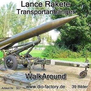 FOTO DVD 307**LANCE Rakete auf Transportanhänger**
