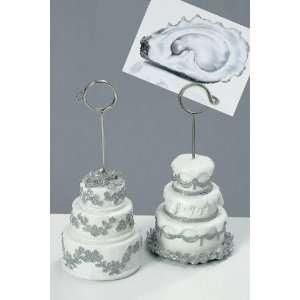 Kartenhalter Tischkarten Hochzeit TORTE 2 Stck im Set 13 cm: .de
