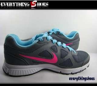 Nike Wmns Revolution MSL Metallic Grey Pink Blue Running Shoes