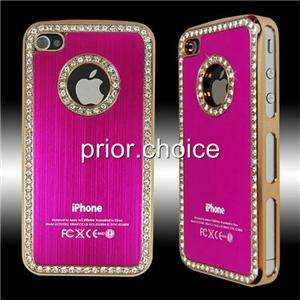 LUXUARY BLING DIAMONDS HARD CASE COVER FOR IPHONE 4 4G~