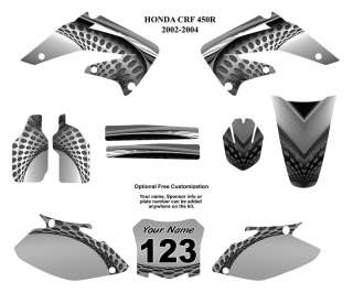 Honda CRF 450R 2002 04 Moto Graphic Decal Kit 7000Metal