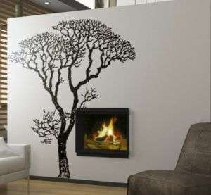 Vinyl Wall Decal Sticker Bare Tree Decoration 8 Ft Tall