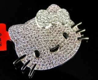 FINISH HELLO KITTY DIAMOND FASHION SLIDE PENDANT CHARM 1.50 CT