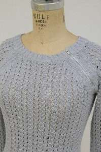 AMERICAN EAGLE OUTFITTERS BOHO CHIC BLUE SWEATER XSMALL