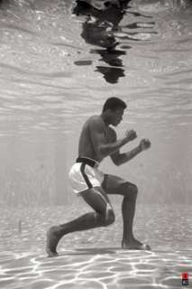 Muhammad Ali UNDERWATER (Miami 1961) Boxing Poster