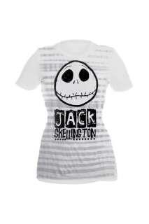 Nightmare Before Christmas Jack Skellington Striped Tee