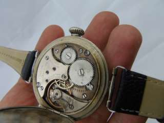 WWI military Officers Omega CHRONOMETER wristwatch.Made for Bulgarian