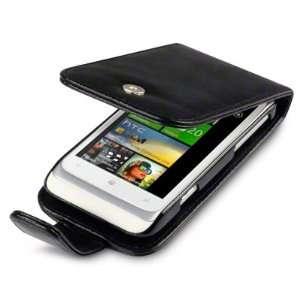HTC RADAR HANDY LEDER TASCHE CASE HÜLLE IN SCHWARZ +