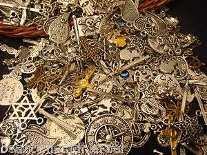 Wholesale Mixed Lot Silver Gold Bronze Antique Charm Pendant Jewelry